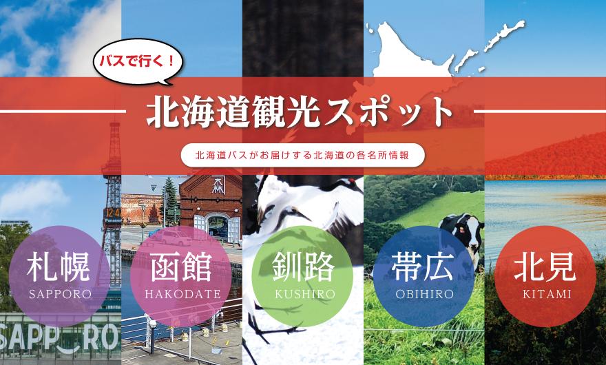 バスで行く!北海道観光スポット
